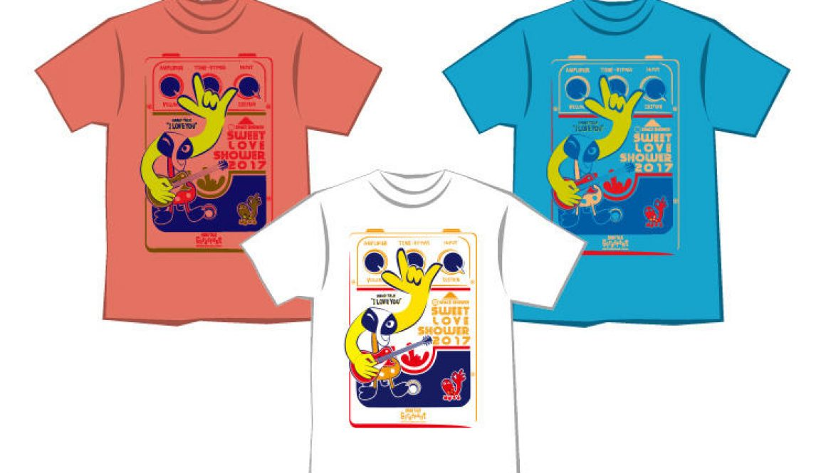 SWEET LOVE SHOWER × 門 秀彦 FUJI EFFECTOR & GIRAFFANT Tシャツ販売スタート!